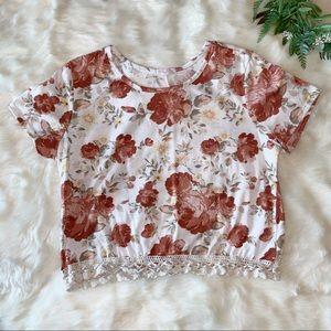 A'GACI | Floral Print Crop Top